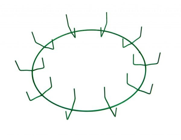 12″ Green Clamp Ring – 10 Clips
